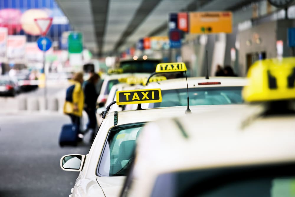row of taxis