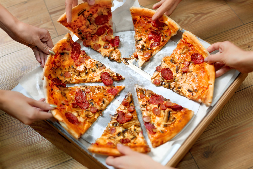 grabbing pizza