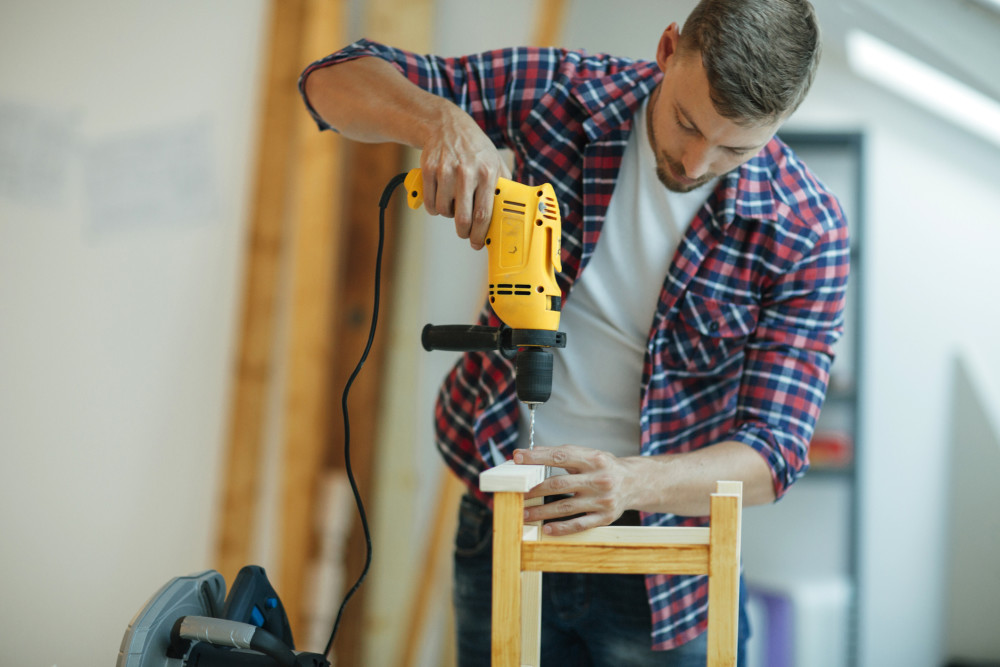 guy using drill