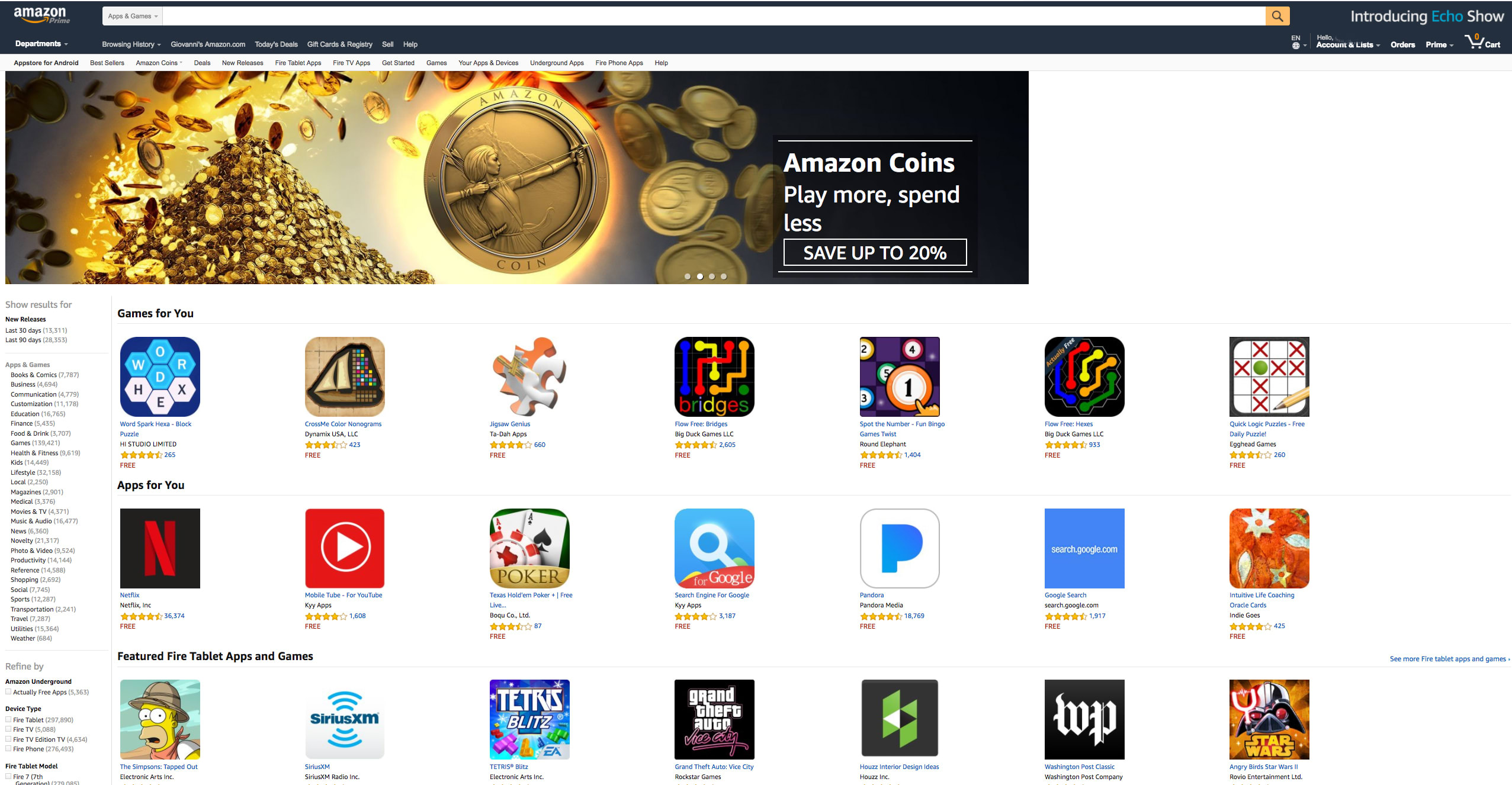 Amazon In-App Purchases