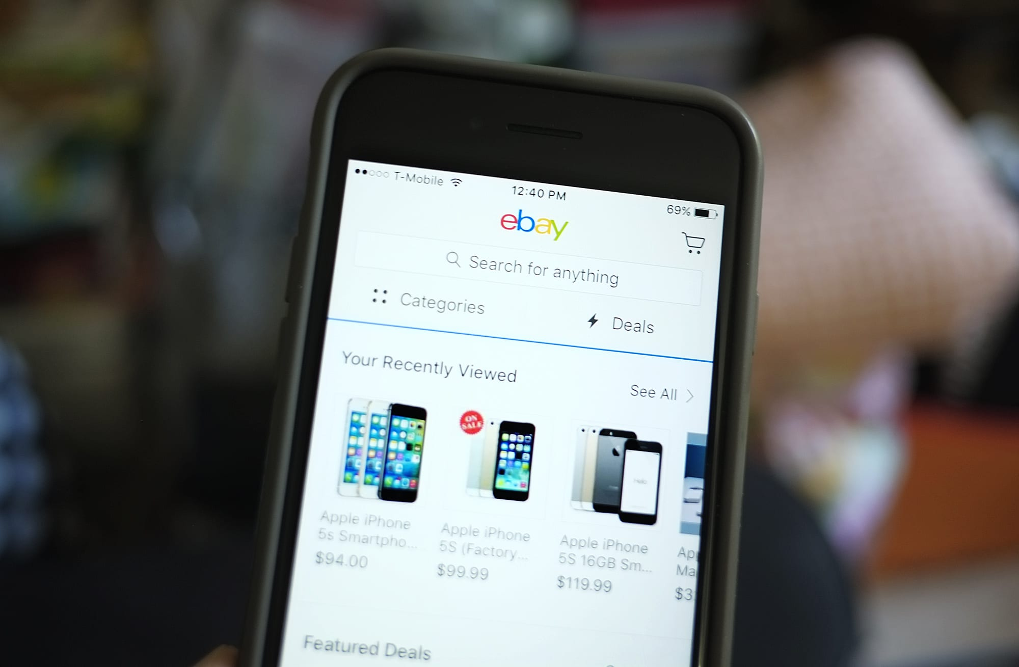 eBay on phone