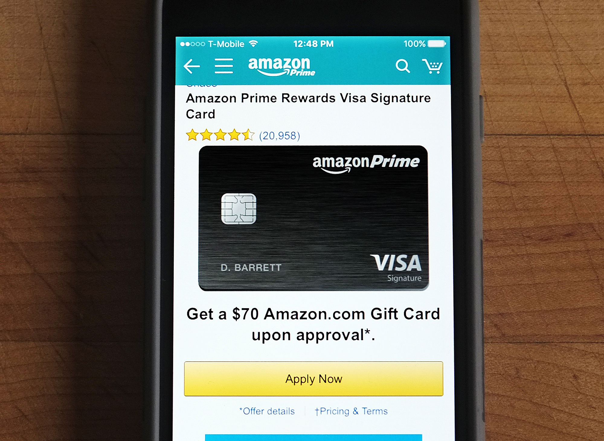 can you get amazon prime without a credit card