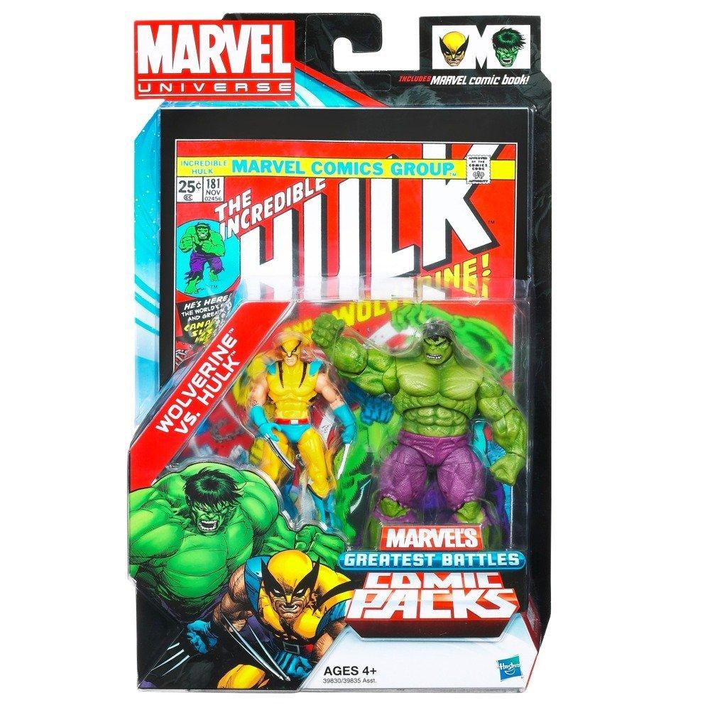 Wolverine vs. Hulk action figures
