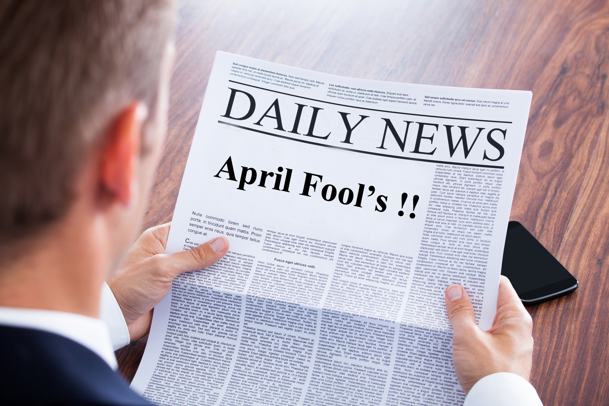 April Fools' newspaper