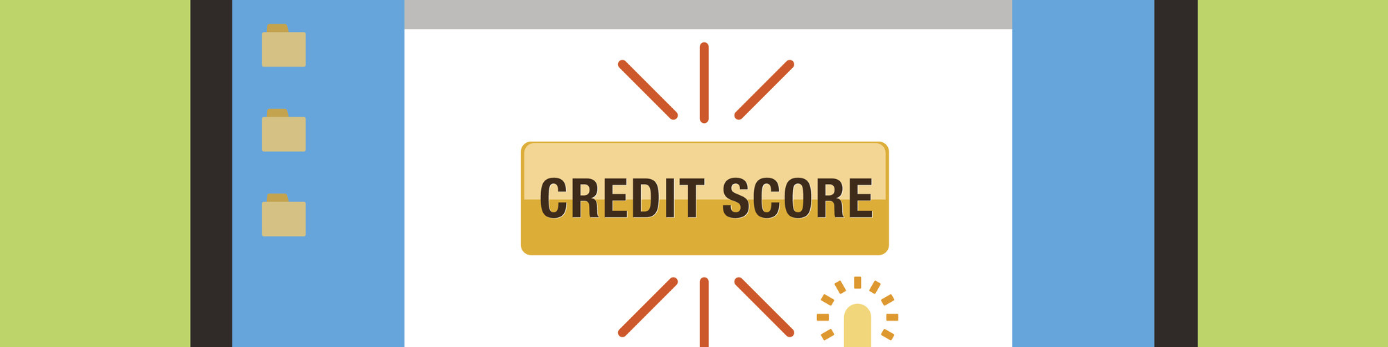 credit score button