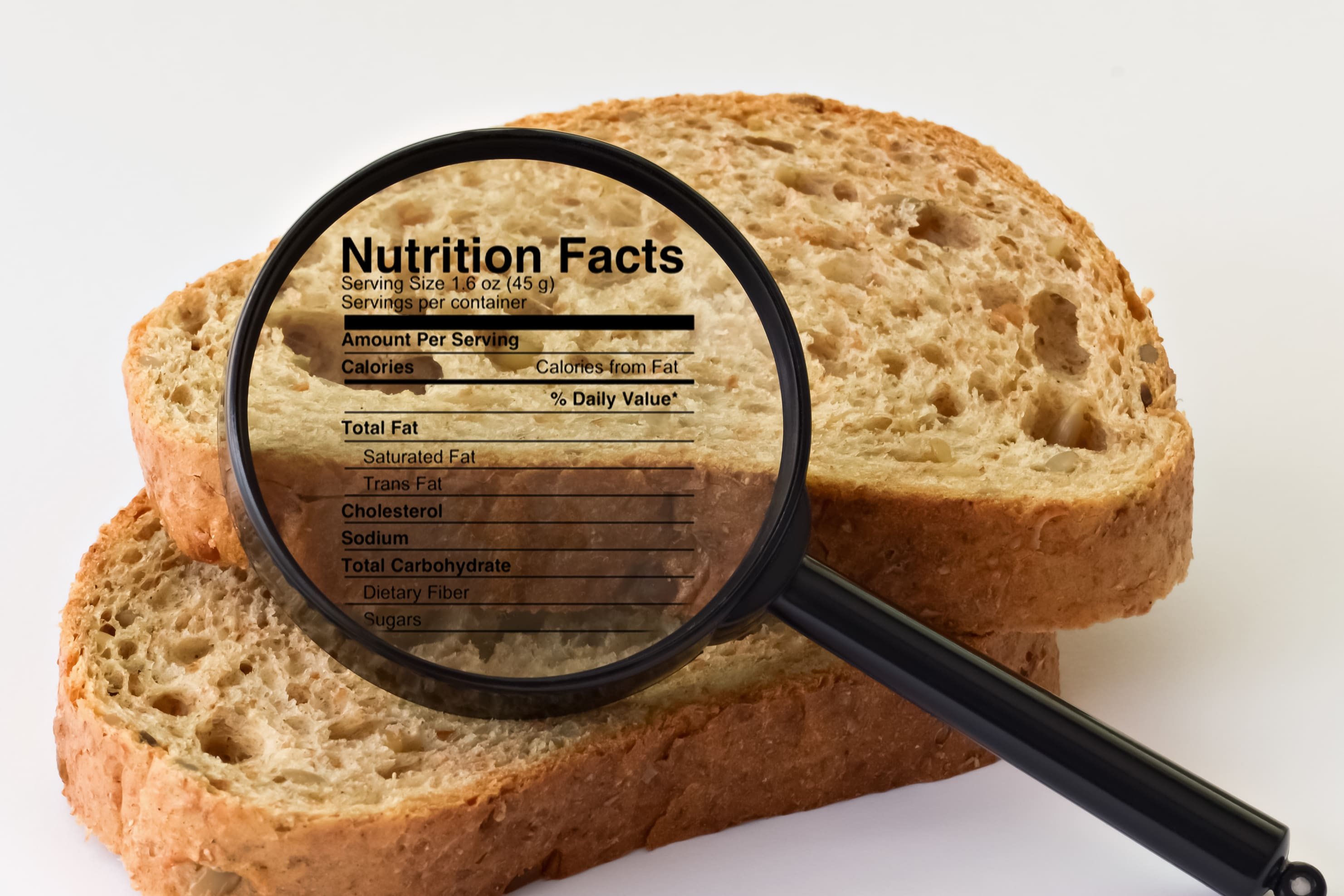 Nutrition Facts for Bread