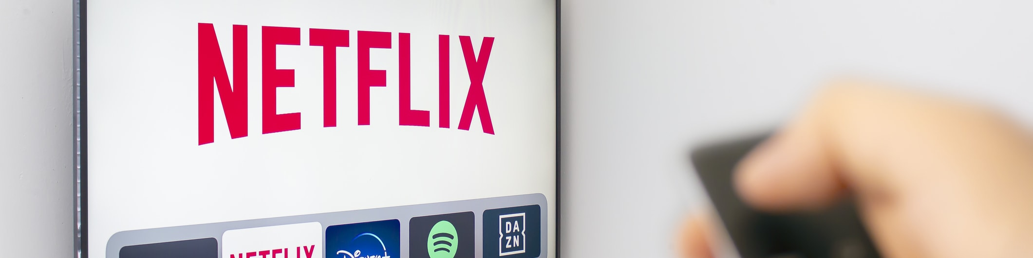 Netflix logo on TV