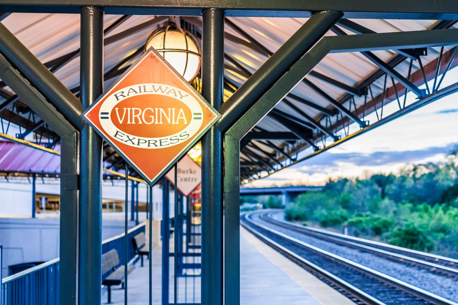Virginia railway sign
