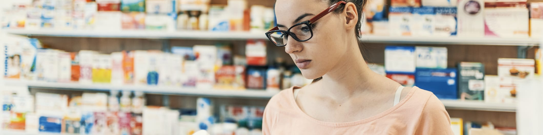 woman in drugstore