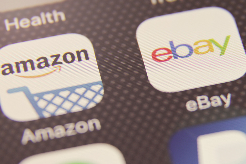 eBay and Amazon icons