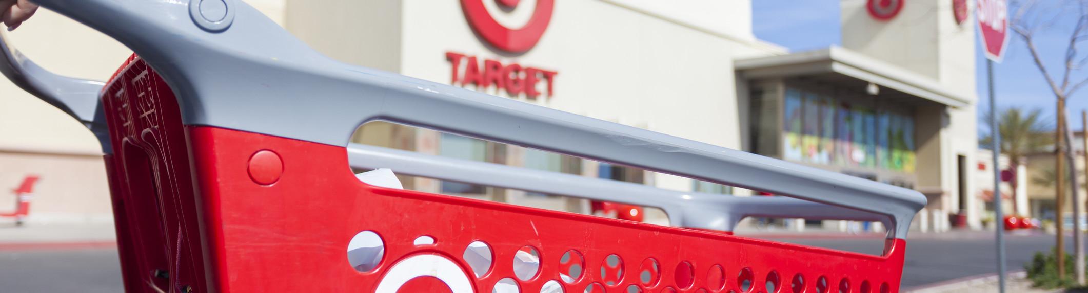 Target cart and sign