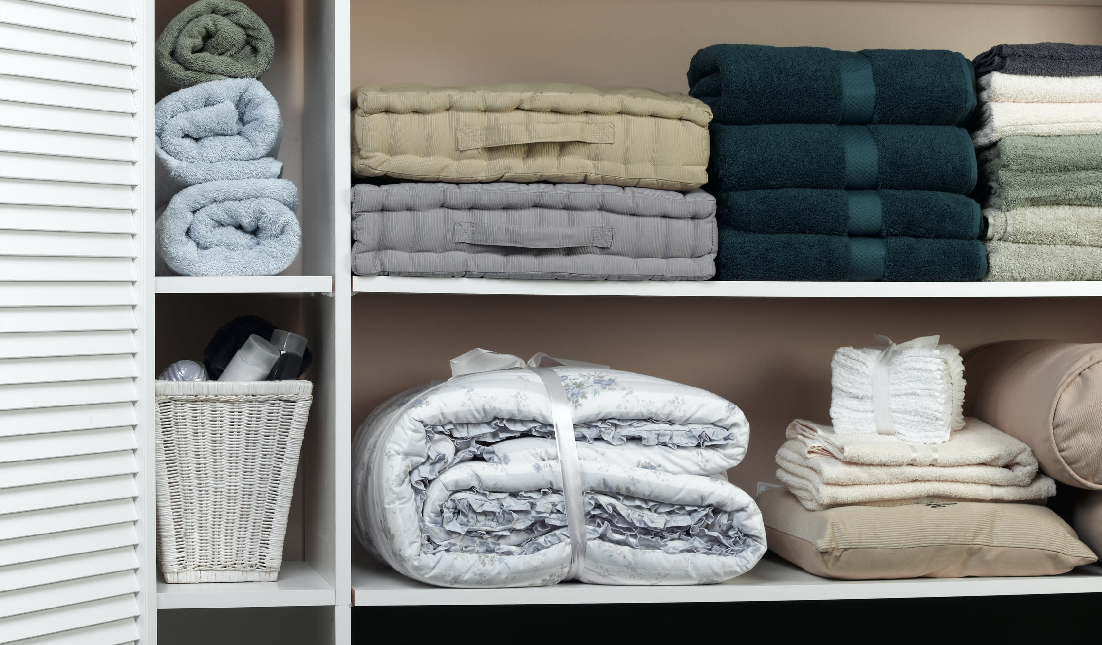 bedding and towels