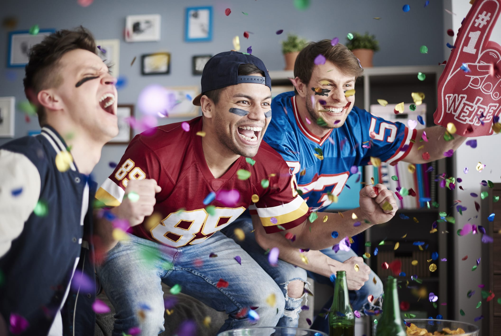 Cheering Super Bowl Party
