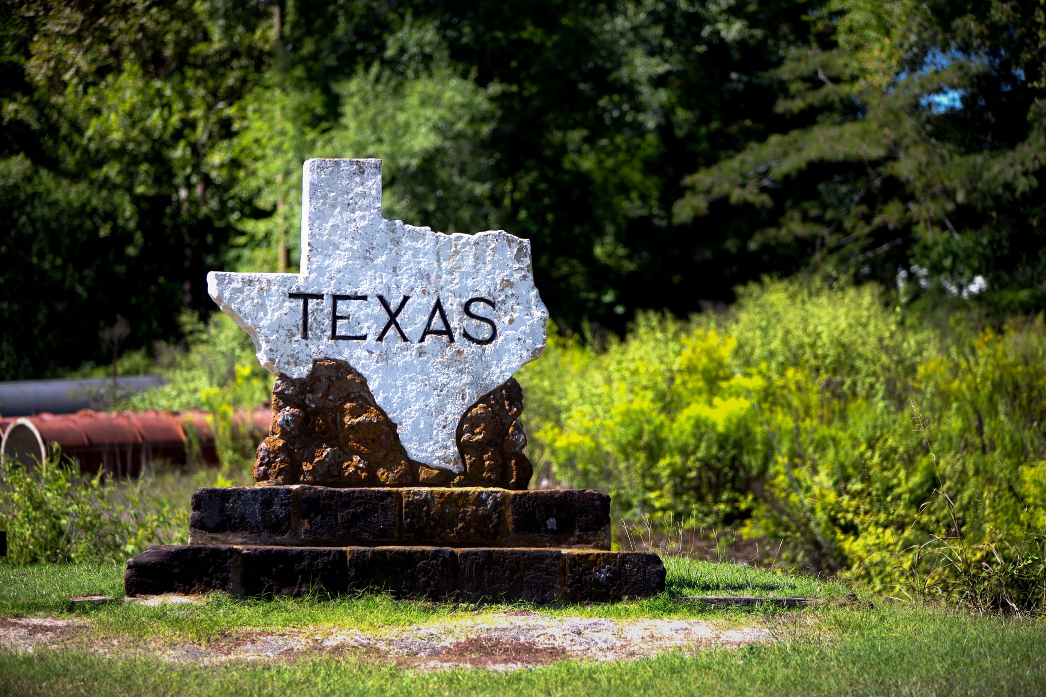Texas State Line Marker