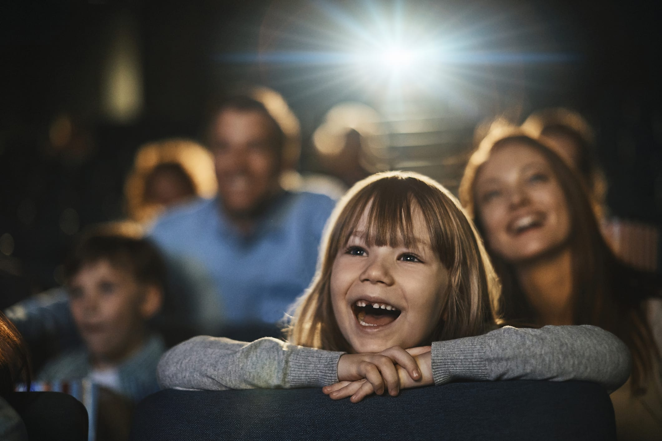 Little Girl Smiling in the Theater