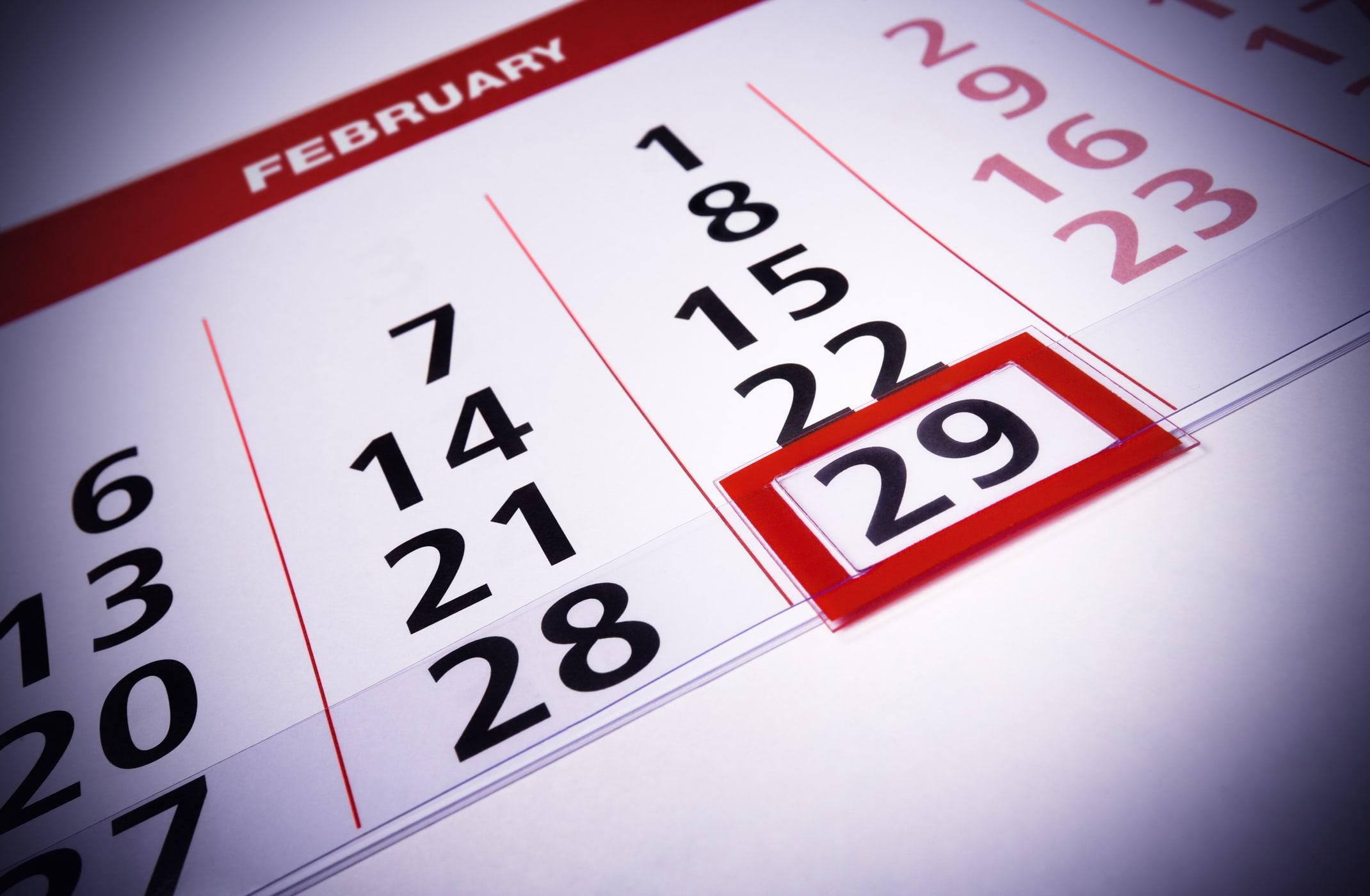 February 29 on calendar