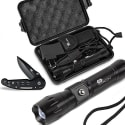 Cracov Tactical Flashlight and Knife Set for $12 + free shipping