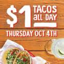Fuzzy's Taco Shop Tacos for $1