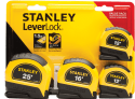 Stanley LeverLock Measuring Tape 4-Pack for $10 + pickup at Walmart