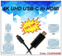4K UHD USB-C to HDMI cable: 15% off + $15 s&h