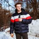 Izod Men's Colorblock Puffer Jacket for $30 + $5.95 s&h