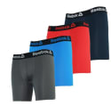 Reebok Men's Performance Boxer Briefs 4-Pack for $13 + free shipping
