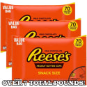 3 Reese's Peanut Butter Cups 42-oz. Bags for $25 + free shipping