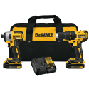 Refurb DeWalt 20V Max Lithium-Ion Cordless Brushless Drill and Impact Driver Kit for $144 + free shipping