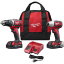 Milwaukee Tool M18 18V Drill/Impact Combo Kit w/ Battery for $179 + free shipping