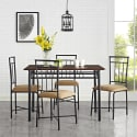 Mainstays 5-Piece Wood and Metal Dining Set for $100 + free shipping