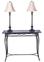 Cheyenne 3-Piece Foyer Table and Lamp Set