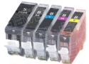 Canon PGI-5 / CLI-8–Compatible Inkjet Cartridge 5-Pack