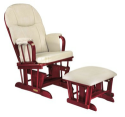 Madison Deluxe Glider Rocker and Ottoman