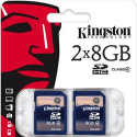 Kingston 8GB SDHC Class 4 Secure Digital Card 2-Pack for $10 + free shipping