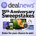 Winner of $1,500 in prizes in the 15th Anniversary Sweepstakes from dealnews