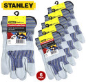 Stanley HandHelpers Cowhide Work Gloves 6-Pack + 1-cent s&h