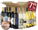 12-Bottle Wine Sampler Pack for $96