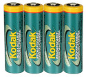 4 Kodak Rechargeable NiMH AA Batteries