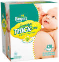 Pampers Thick Sensitive Wipes 420-Count (updated)
