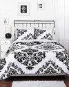 Classic Noir Reversible Queen Comforter Set