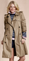 Lands' End Canvas Women's Heritage Trench Coat