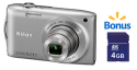 Nikon Coolpix 16MP Digital Camera w/ 4GB SD Card