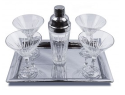 Godinger Ingrid Crystal 6-pc. Martini Set for $40