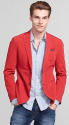 Tommy Hilfiger Men's Cotton Garment Dyed Blazer