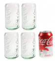 Coca-Cola 12-oz. Green Tint Glasses 4-Pack