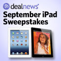 Winner of an iPad in the September iPad Sweepstakes from !!dealnews!!