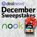 Winner of the Nook in the December Sweepstakes from !!dealnews!!