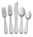 Pfaltzgraff Salisbury Satin 45-Piece Flatware Set