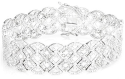 2-tcw Diamond Lattice Sterling Silver Bracelet