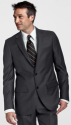 Lands End Men's 2-Button Wool Flannel Suit Coat